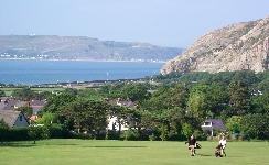 Golf society information - view from the 1st Tee overlooking the Great Orme, Llandudno