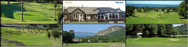 Various views of Penmaenmawr Golf Course, Conwy, North Wales
