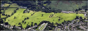 Aerial view of Penmaenmawr Golf Course