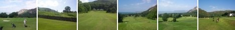 Various views of Penmaenmawr Golf Course