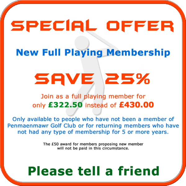 New Full Playing Membership offer for 2019
