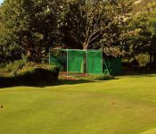 Putting green and practice nets